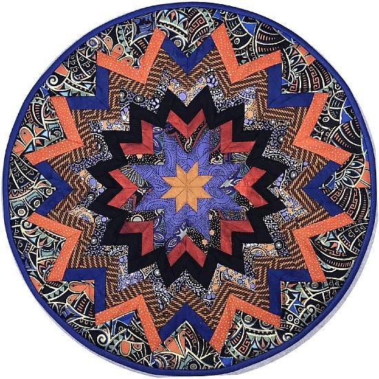 Kaleidoscope Centerpiece Folded Star Table Topper Pattern