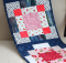 Plate of Cherries Disappearing Nine-Patch Table Runner Pattern