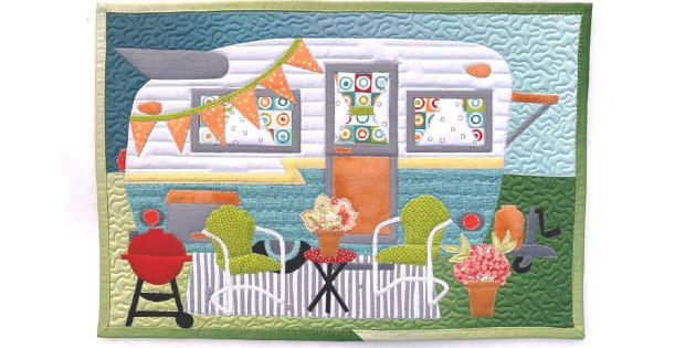 Happy Glamper Placemat Pattern