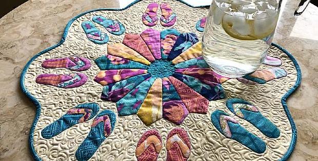 Flip Flop Fun Table Topper Pattern