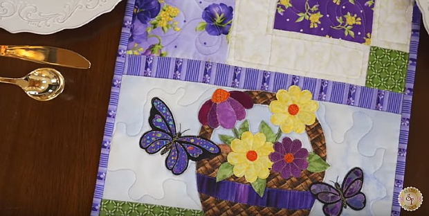 Easy Pieced Table Runner Series - May