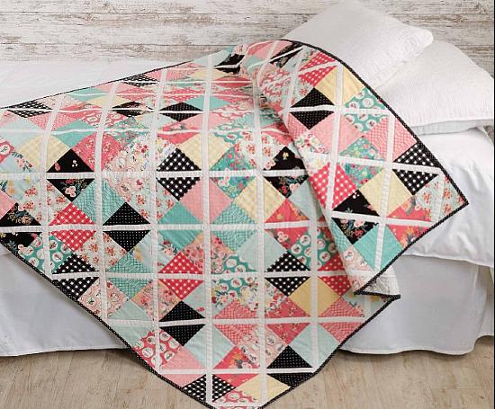 Crisscross Throw Quilt Pattern
