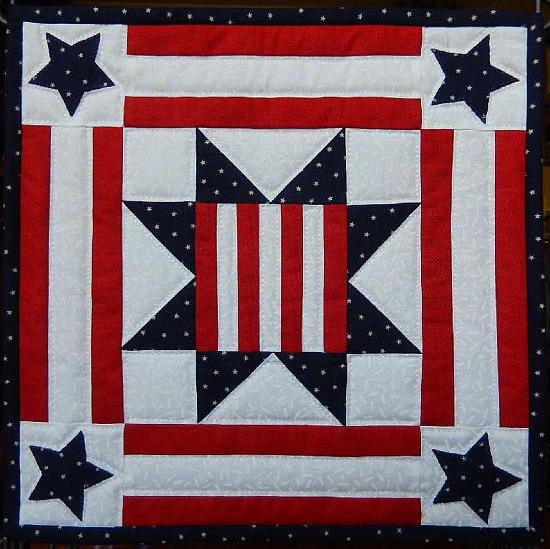 Patriotic Star Americana Miniature Quilt Pattern