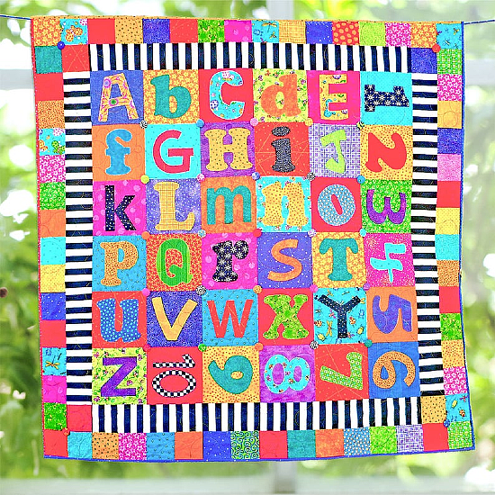 Scrappy Alphabet Quilt Pattern