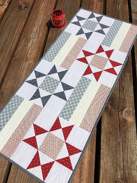 Stars and Bars Table Runner Pattern