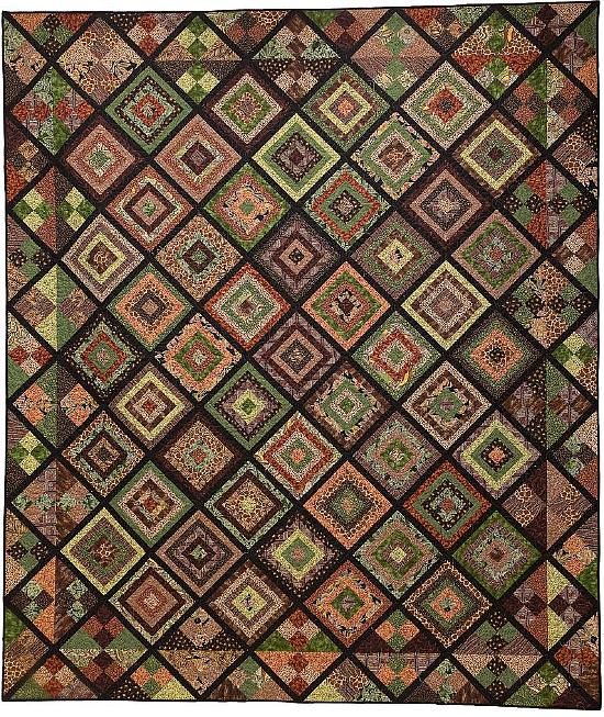 Log Cabin Shuffle Quilt Pattern