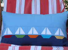 Set Sail Pillow Sham Pattern