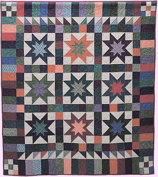 Nine Stars Rising Quilt Pattern