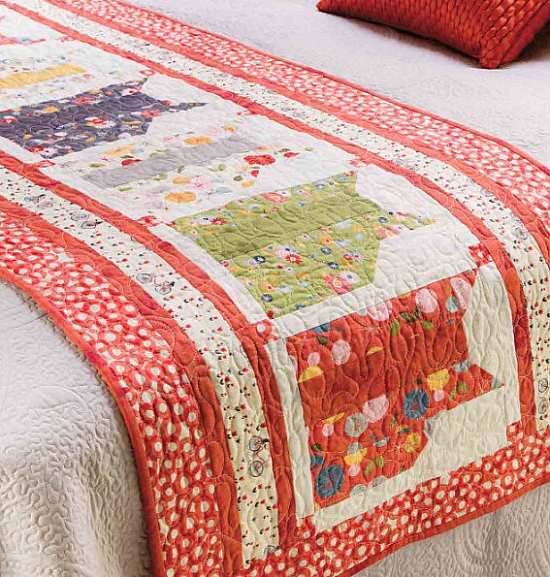Kool Kats Bed Runner Pattern