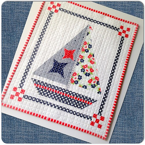 Sailboat Mini Quilt Tutorial