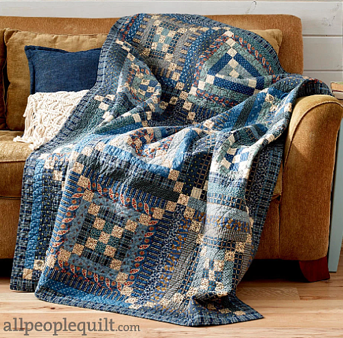 Scrappy Blues Quilt