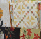 Curtain Rod Quilt Display