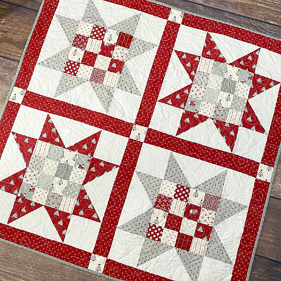 Patchwork Stars Quilt Pattern