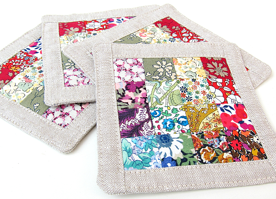Patchwork Coasters Sewing Tutorial