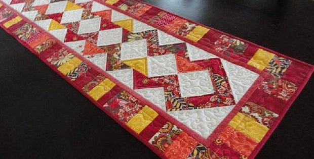 Stretch Quilted Table Runner Pattern
