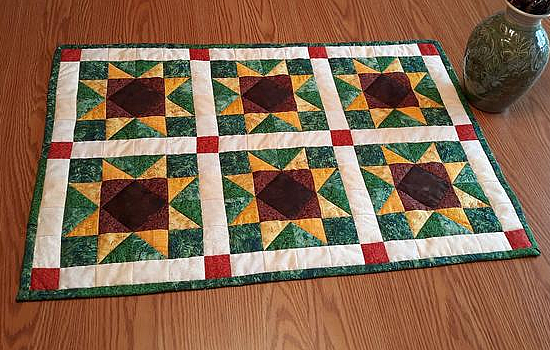 Sunflowers in the Garden Table Runner Pattern