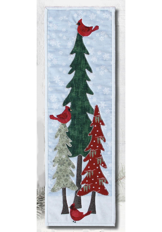 Cardinals in Winter Trees Pattern