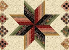 Strippy Star Quilt Pattern
