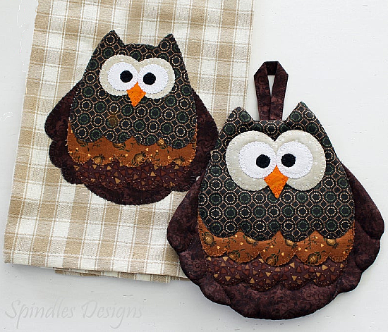 Owl Tea Towel and Hot Pad Pattern