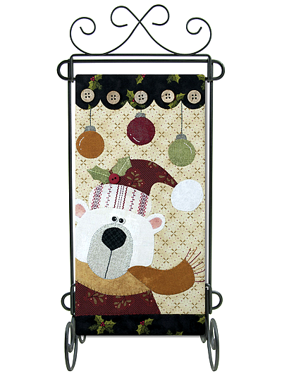 White Christmas Wall Hanging and Table Runner Pattern