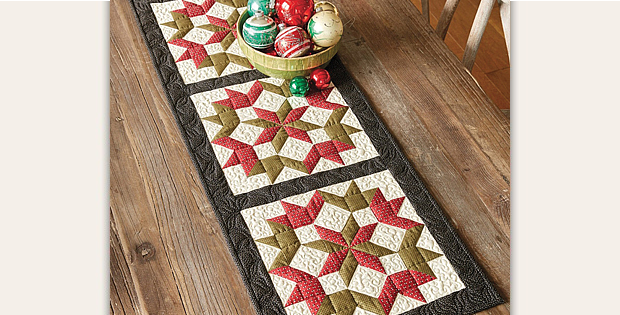 Christmas Star Table Runner Pattern