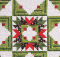 Christmas Star Log Cabin Quilt