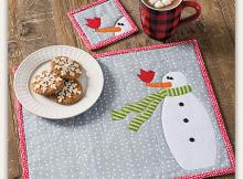 Snow Buddies Placemat Pattern Set