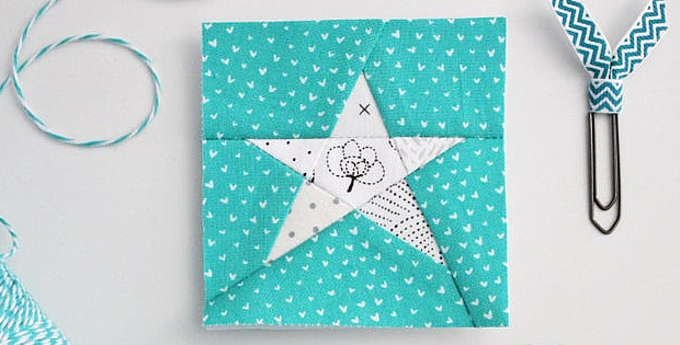 Tiny Star Quilt Block Pattern