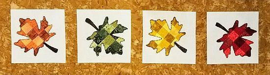 Tessellating Autumn Leaves Table Runner Pattern