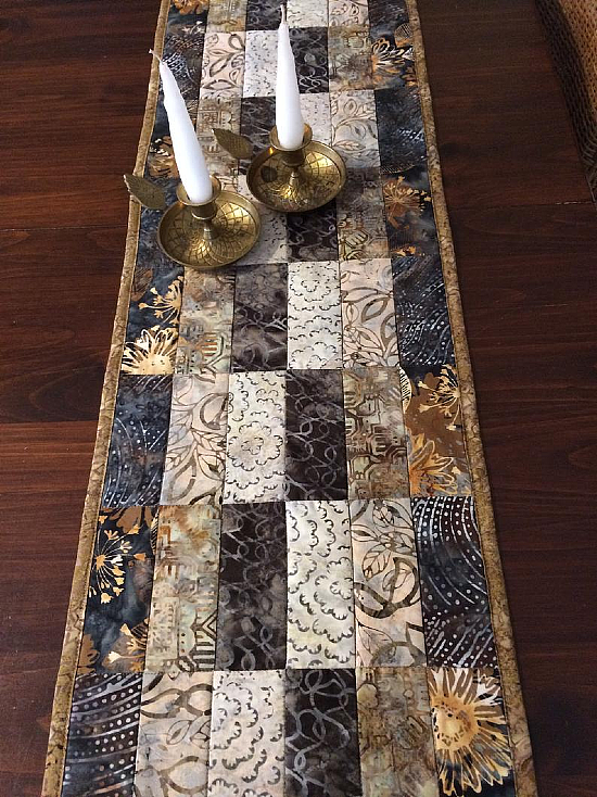 Modern Quilted Batik Table Runner Pattern