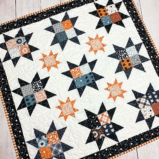 Spooktacular Stars Quilt Pattern