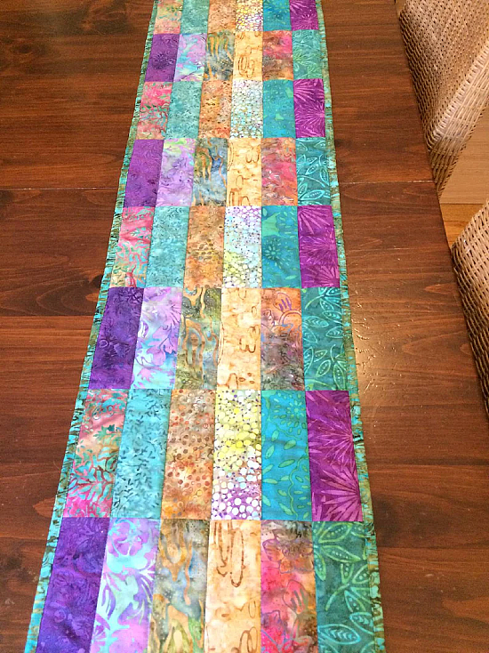 Modern Quilted Batik Table Runner Pattern