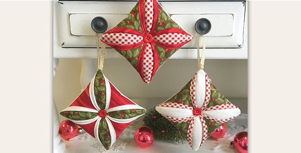 Cathedral Window Ornaments Tutorial