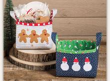Quilted Gift Basket Set Pattern