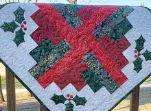 Christmas Logs Quilt Tutorial