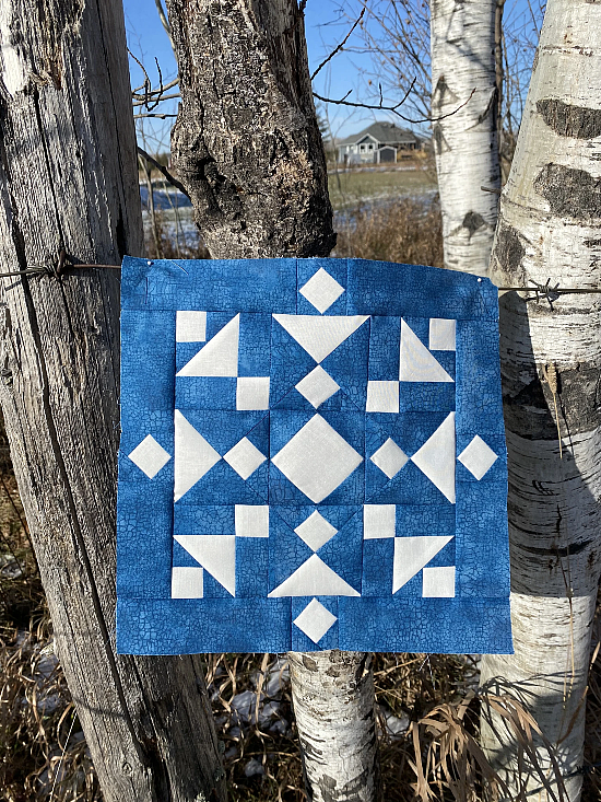 Snazzy Snowflake Quilt Block Pattern