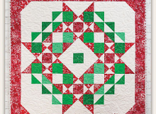 Christmas Star Wreath Quilt Pattern
