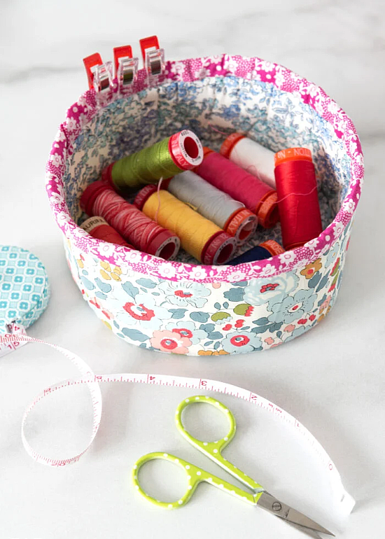 Nesting Fabric Baskets Sewing Pattern