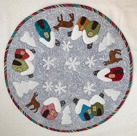 Gnome Homes Christmas Table Top Pattern