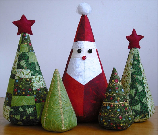 Santa and Trees Christmas Decoration Pattern