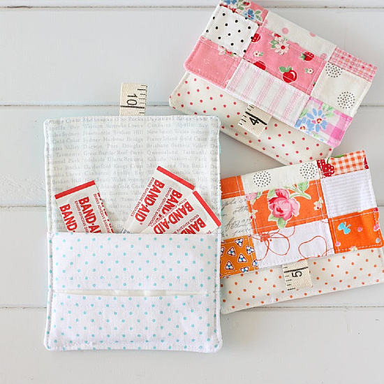 Patchwork Pocket Pouch Pattern