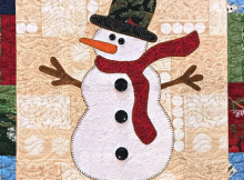 Snowman Wallhanging Quilt Pattern