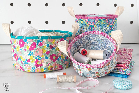 Nesting Fabric Baskets Sewing Pattern