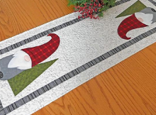 Here a Gnome, There a Gnome Table Runner Pattern