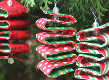 Fabric Ribbon Candy Ornament Tutorial