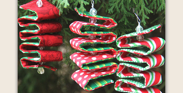 Fabric Ribbon Candy Ornament Tutorial