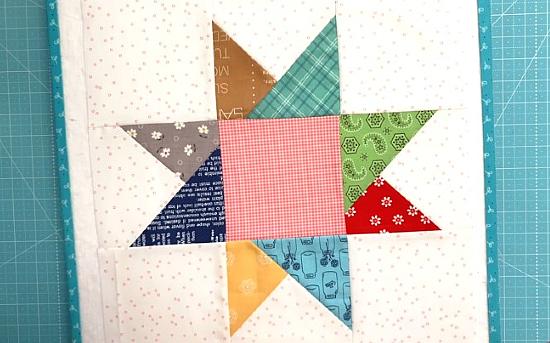 Criss-Cross Star Quilt Block Tutorial