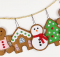 Gingerbread Cookie Christmas Ornaments Pattern