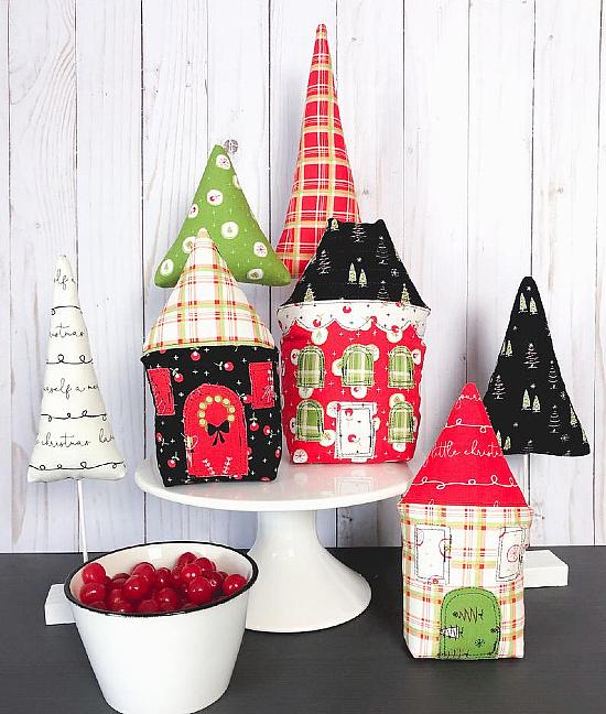 Merry Little Christmas Village Pattern
