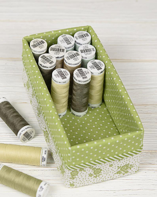 Fabric Baskets and Ribbon Cards Pattern